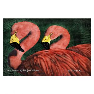Decorative Floor Covering Mats | Will Bullas - Our Ladies of the Front Lawn | Flamingo bird nature wild animal pun joke
