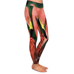 Casual Comfortable Leggings | Will Bullas - Our Ladies of the Front Lawn | Flamingo bird nature wild animal pun joke