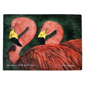 Countertop Place Mats | Will Bullas - Our Ladies of the Front Lawn | Flamingo bird nature wild animal pun joke
