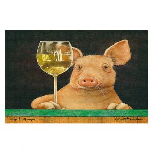 Decorative Floor Covering Mats | Will Bullas - Pigot Grigio | Pig hog wine bar drink alcohol pun joke