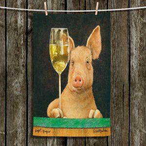 Unique Hanging Tea Towels | Will Bullas - Pigot Grigio | Pig hog wine bar drink alcohol pun joke