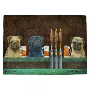 Countertop Place Mats | Will Bullas - Pug Crawl | dog canine beer tap bar drink alcohol beer pun joke