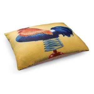 Decorative Dog Pet Beds   Will Bullas - Spring Chicken   Rooster bird farm joke pun bounce