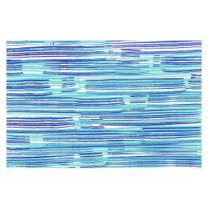 Decorative Floor Covering Mats   Yasmin Dadabhoy - Blue Sea   Abstract Landscape Ocean