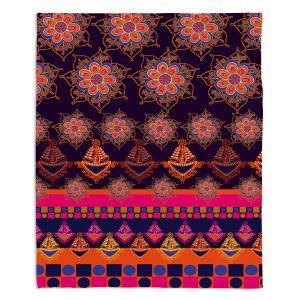 Artistic Sherpa Pile Blankets | Yasmin Dadabhoy - Boho Circle 1 | bohemian pattern