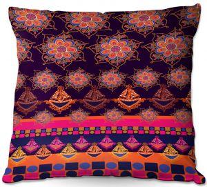 Throw Pillows Decorative Artistic | Yasmin Dadabhoy - Boho Circle 1 | bohemian pattern