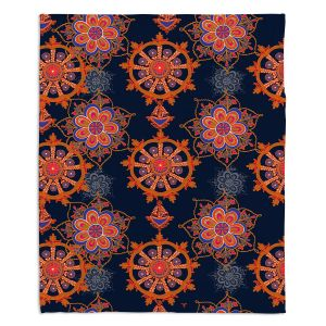 Artistic Sherpa Pile Blankets | Yasmin Dadabhoy - Boho Circle 2 | bohemian pattern