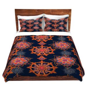 Artistic Duvet Covers and Shams Bedding | Yasmin Dadabhoy - Boho Circle 2 | bohemian pattern