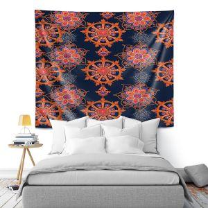 Artistic Wall Tapestry   Yasmin Dadabhoy - Boho Circle 2   bohemian pattern