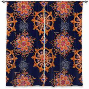 Decorative Window Treatments | Yasmin Dadabhoy - Boho Circle 3 | Geometric Flowers