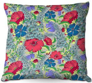 Decorative Outdoor Patio Pillow Cushion | Yasmin Dadabhoy - Botanical 1 | floral nature pattern
