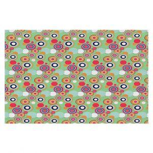 Decorative Floor Covering Mats   Yasmin Dadabhoy - Circles Green Yellow   shape geometric pattern