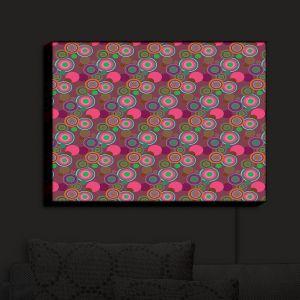 Nightlight Sconce Canvas Light | Yasmin Dadabhoy - Circles Pink Olive