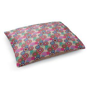 Decorative Dog Pet Beds | Yasmin Dadabhoy - Circles Pink Tan | shape geometric pattern