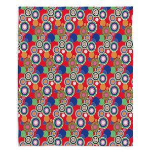 Artistic Sherpa Pile Blankets | Yasmin Dadabhoy - Circles Red Blue | shape geometric pattern