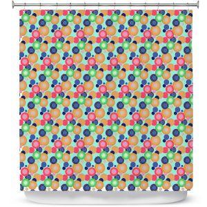 Premium Shower Curtains | Yasmin Dadabhoy - Circles 1 | shape geometric pattern