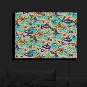 Nightlight Sconce Canvas Light | Yasmin Dadabhoy - Collage Blue