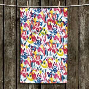 Unique Bathroom Towels | Yasmin Dadabhoy - Collage Multi | nature floral pattern