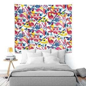 Artistic Wall Tapestry   Yasmin Dadabhoy - Collage Multi   nature floral pattern