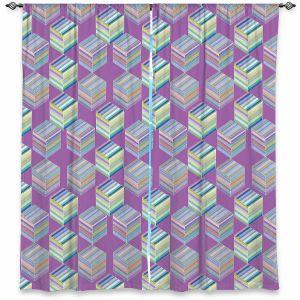 Decorative Window Treatments   Yasmin Dadabhoy - Cubes 1B   Geometric Pattern