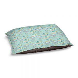 Decorative Dog Pet Beds | Yasmin Dadabhoy - Cubes 1C | Geometric Pattern