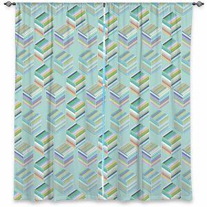 Decorative Window Treatments | Yasmin Dadabhoy - Cubes 1C | Geometric Pattern