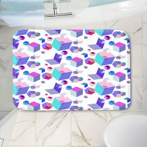 Decorative Bathroom Mats | Yasmin Dadabhoy - Cubes 2A | Geometric Pattern