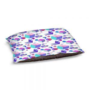 Decorative Dog Pet Beds   Yasmin Dadabhoy - Cubes 2A   Geometric Pattern