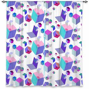 Decorative Window Treatments | Yasmin Dadabhoy - Cubes 2A | Geometric Pattern