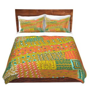Artistic Duvet Covers and Shams Bedding   Yasmin Dadabhoy - Doodle Towel   abstract pattern lines
