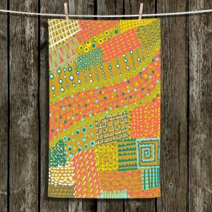 Unique Hanging Tea Towels | Yasmin Dadabhoy - Doodle Towel | abstract pattern lines