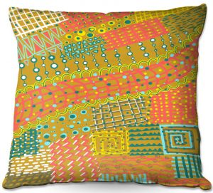 Throw Pillows Decorative Artistic | Yasmin Dadabhoy - Doodle Towel | abstract pattern lines