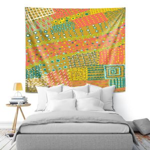 Artistic Wall Tapestry | Yasmin Dadabhoy - Doodle Towel | abstract pattern lines