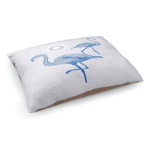 Decorative Dog Pet Beds | Yasmin Dadabhoy - Flamingo 1 Blue | bird nature simple pop art