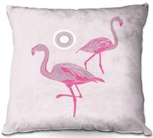 Throw Pillows Decorative Artistic | Yasmin Dadabhoy - Flamingo 1 Pink | bird nature simple pop art