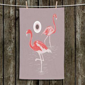 Unique Bathroom Towels | Yasmin Dadabhoy - Flamingo 1 Red | bird nature simple pop art