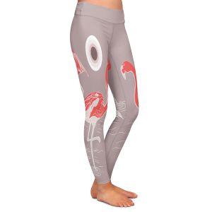 Casual Comfortable Leggings | Yasmin Dadabhoy - Flamingo 1 Red | bird nature simple pop art