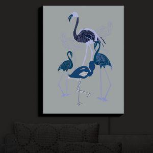 Nightlight Sconce Canvas Light   Yasmin Dadabhoy - Flamingo 2 Blue   bird nature simple pop art