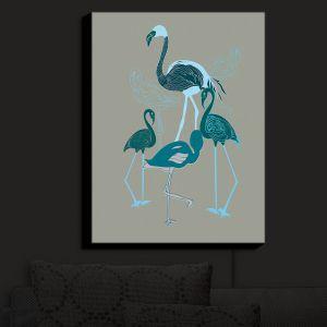 Nightlight Sconce Canvas Light | Yasmin Dadabhoy - Flamingo 2 Green | bird nature simple pop art