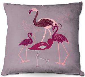 Throw Pillows Decorative Artistic | Yasmin Dadabhoy - Flamingo 2 Maroon | bird nature simple pop art