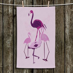 Unique Bathroom Towels | Yasmin Dadabhoy - Flamingo 2 Pink | bird nature simple pop art