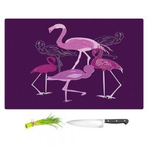Artistic Kitchen Bar Cutting Boards   Yasmin Dadabhoy - Flamingo 2 Purple   bird nature simple pop art