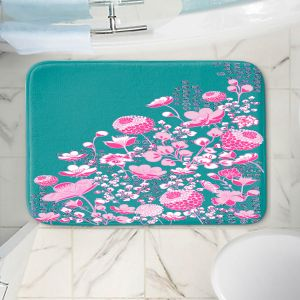 Decorative Bathroom Mats | Yasmin Dadabhoy - Floral Bed 1 | flower nature pattern