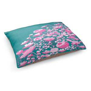 Decorative Dog Pet Beds | Yasmin Dadabhoy - Floral Bed 1 | flower nature pattern