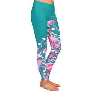 Casual Comfortable Leggings | Yasmin Dadabhoy - Floral Bed 1 | flower nature pattern