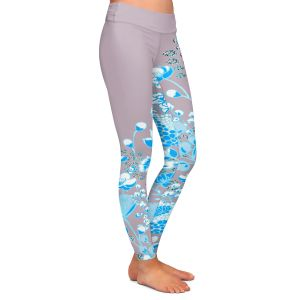 Casual Comfortable Leggings | Yasmin Dadabhoy - Floral Bed 3 | flower nature pattern