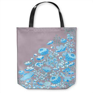 Unique Shoulder Bag Tote Bags | Yasmin Dadabhoy - Floral Bed 3 | flower nature pattern
