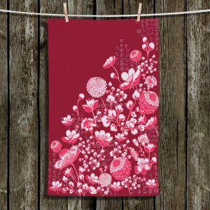 Unique Bathroom Towels | Yasmin Dadabhoy - Floral Bed 4 | flower nature pattern