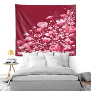 Artistic Wall Tapestry | Yasmin Dadabhoy - Floral Bed 4 | flower nature pattern
