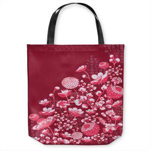 Unique Shoulder Bag Tote Bags | Yasmin Dadabhoy - Floral Bed 4 | flower nature pattern